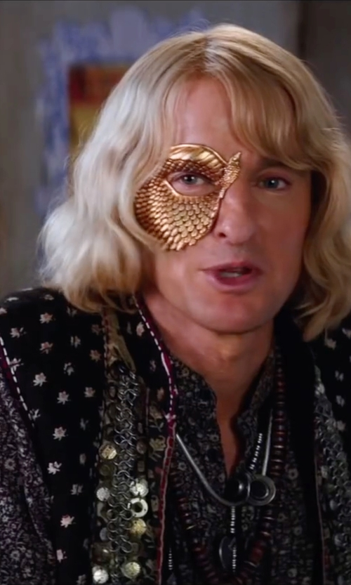 Owen Wilson with Asos Floral Print Co-Ord Vest in Zoolander 2