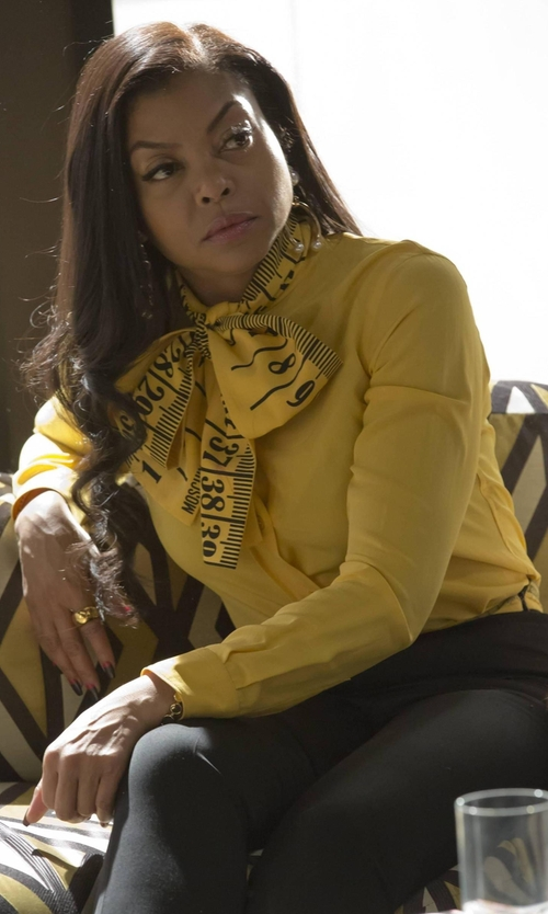 Taraji P. Henson with Moschino Long Sleeve Shirt in Empire