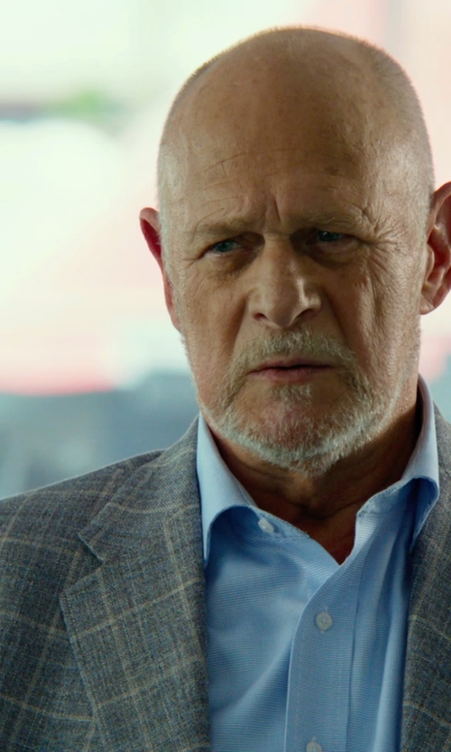 Gerald McRaney with Lanvin Fitted Blue Dress Shirt in Focus