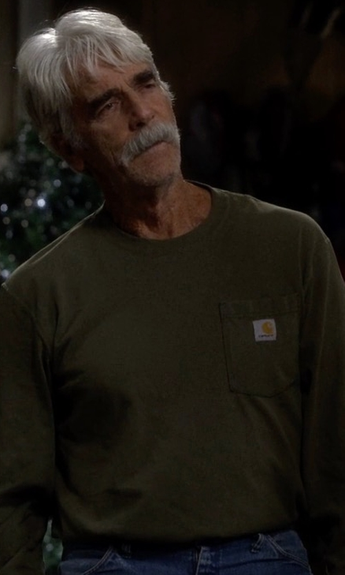 Sam Elliott with Carhartt K126 Workwear Pocket Long-Sleeve Tee in The Ranch
