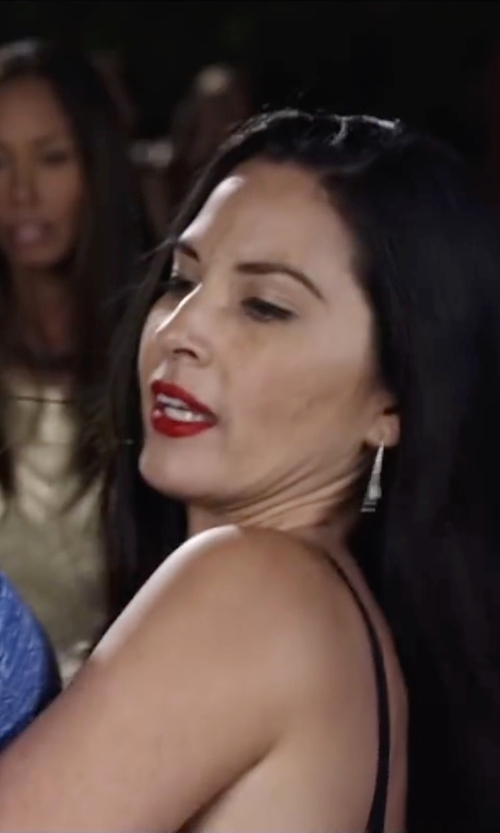 Olivia Munn with Melissa Joy Manning Sterling Silver Extra Large Round Hoop Earrings in Ride Along 2