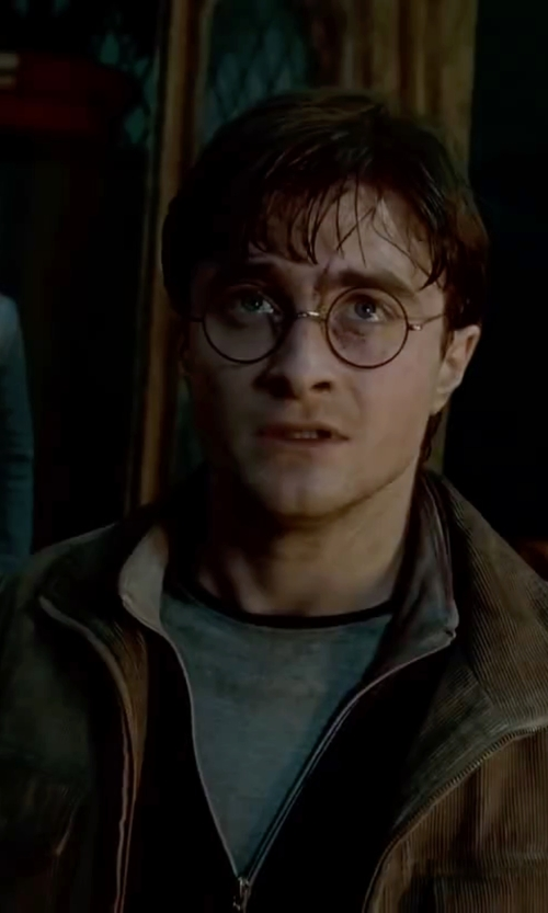 Daniel Radcliffe with Debenhams Natural Corduroy Jacket in Harry Potter and the Deathly Hallows: Part 2