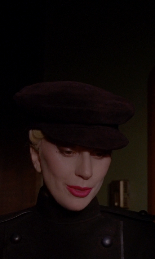 Lady Gaga with Gucci Deerskin Paperboy Cap, Nero in American Horror Story