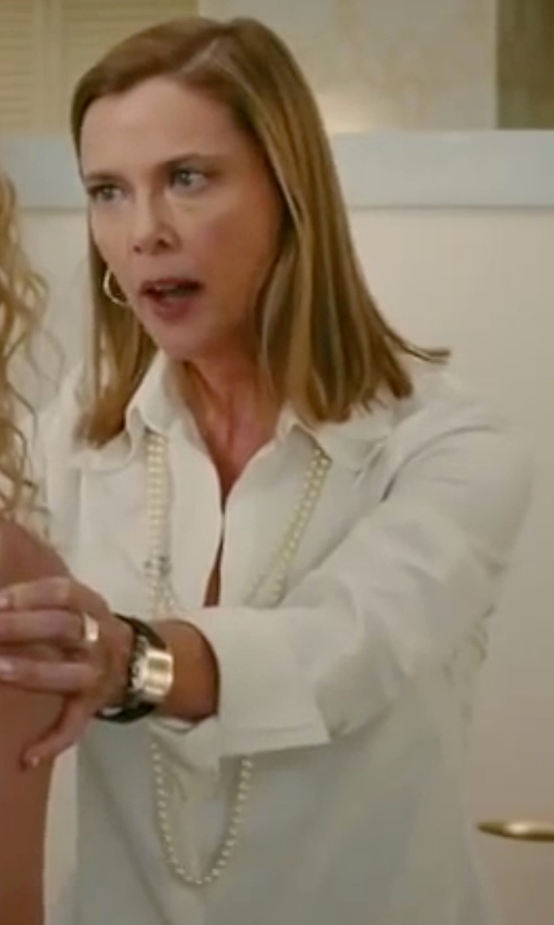 Annette Bening with AYR 'The Easy' Cotton Poplin Shirt in The Women