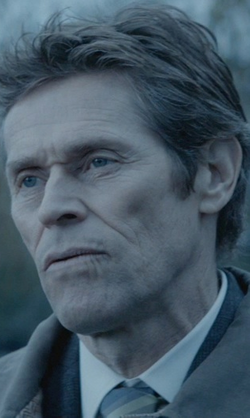 Willem Dafoe with Ike Behar Solid French Cuff Shirt in John Wick