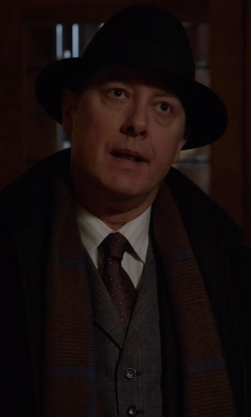 James Spader with TS(S) Plaid Vest in The Blacklist