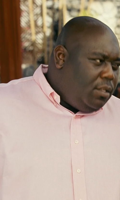 Faizon Love with Ralph Lauren Big & Tall Chambray Shirt in Couple's Retreat