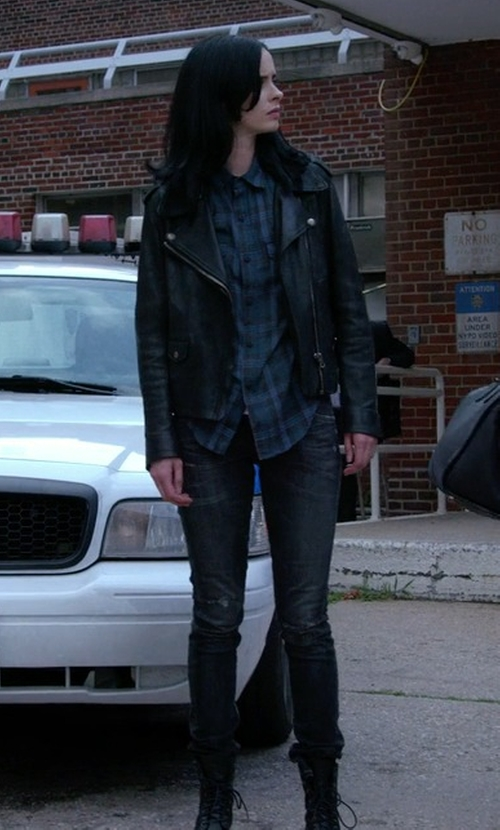 Krysten Ritter with Joe's Jeans The Icon Skinny Jeans in Jessica Jones