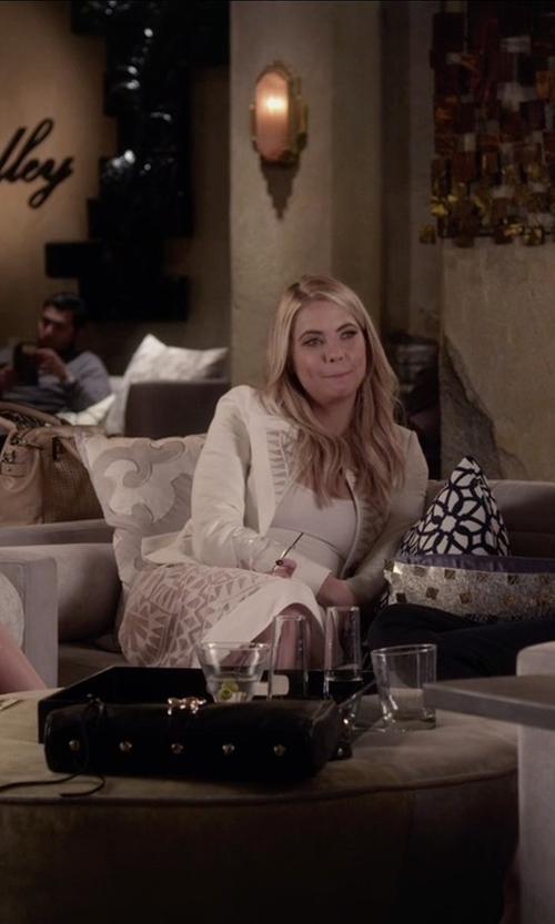 Troian Bellisario with Rebecca Minkoff Mac Clutch Bag in Pretty Little Liars