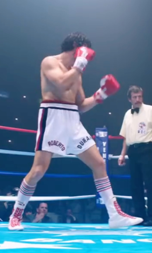 Édgar Ramírez with Title Boxing White Hi-Top Boxing Boots in Hands of Stone