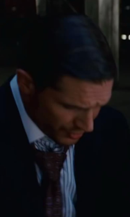 Tom Hardy with Jeffrey Kurland (Costume Designer) Custom Made Medallion Silk Tie in Inception