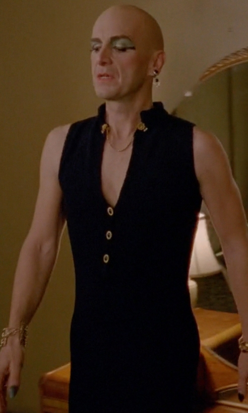Denis O'Hare with Altuzarra Topi Sleeveless Sheath Dress in American Horror Story