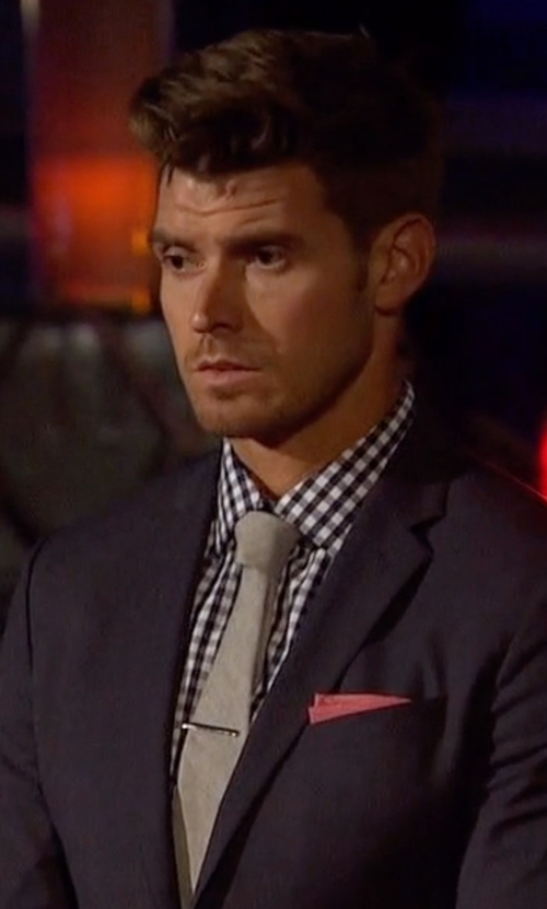 Luke with Boss Hugo Boss Mini-Gingham Dress Shirt in The Bachelorette