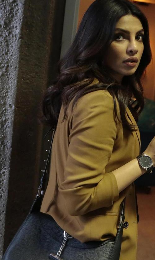 Priyanka Chopra with Kate Spade New York Hayes Street Small Aiden Crossbody Bag in Quantico