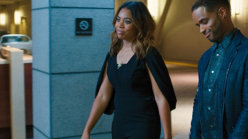 Regina Hall with Misha Collection Olympia Pantsuit (Modified) in Girls Trip