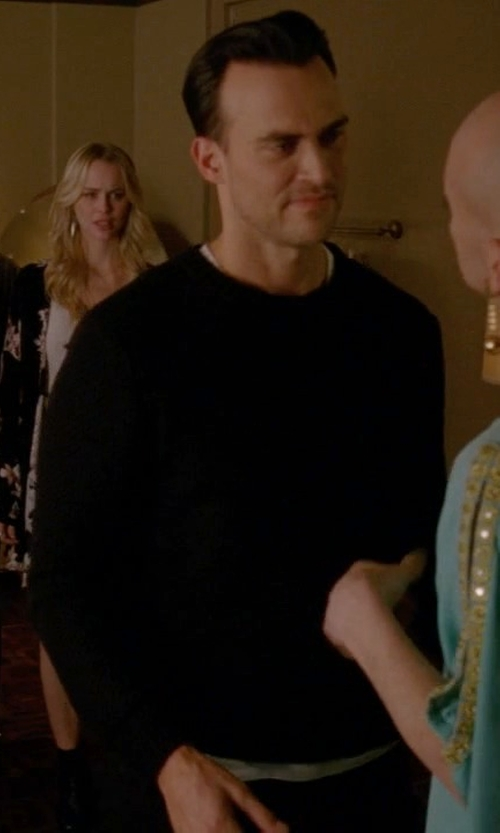 Cheyenne Jackson with Rag & Bone Standard Issue Standard Issue Avery Crew Sweater in American Horror Story