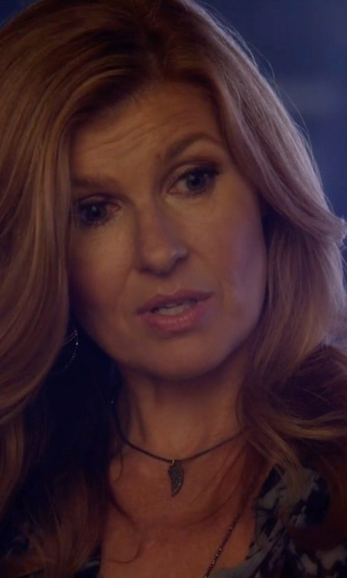 Connie Britton with Pandora Angel Wing Necklace in Nashville