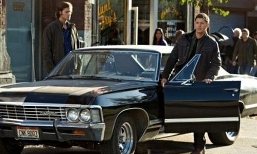 Jensen Ackles with Chevrolet 1967 Impala Coupe in Supernatural