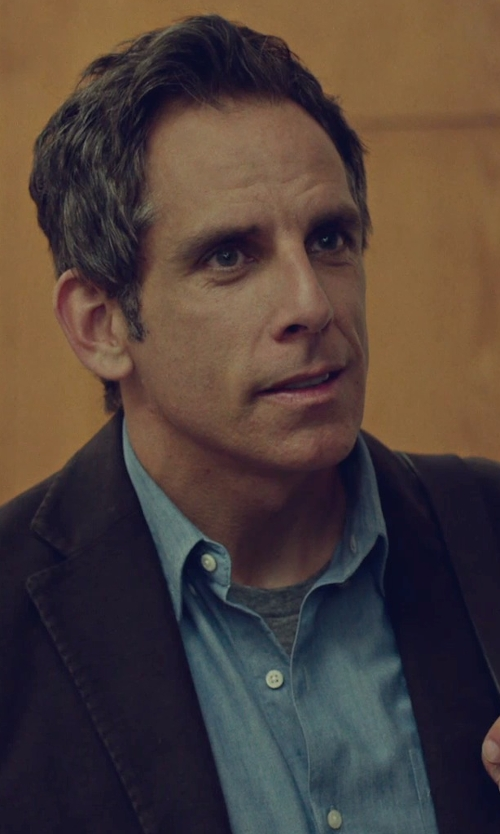 Ben Stiller with Boss Hugo Boss 'Miles' Sharp Fit End-On-End Dress Shirt in While We're Young