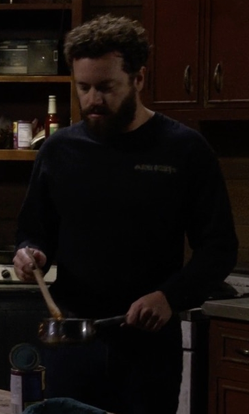 Danny Masterson with Vince Raw-Hem Crewneck T-Shirt in The Ranch