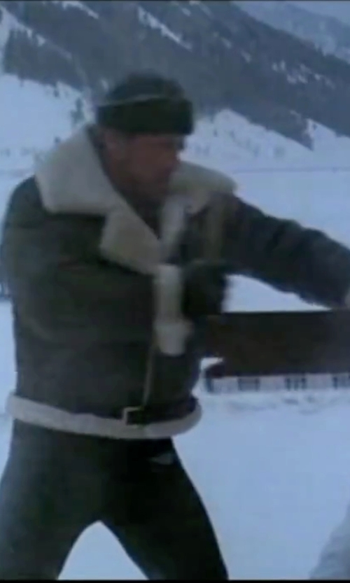 Sylvester Stallone with Sandro Biker-Collar Cotton Jacket in Rocky IV