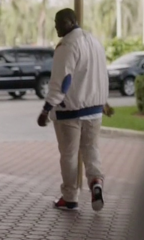 Donovan W. Carter with Nike Air Jordan 5 Retro Suede Sneakers in Ballers