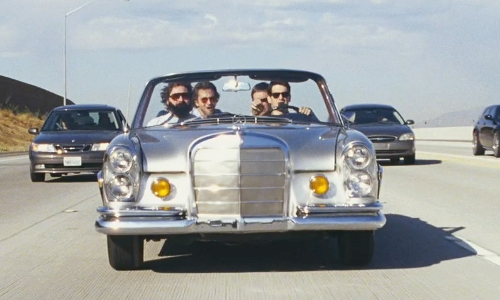 Justin Bartha with Mercedes-Benz 1969 280 SE Sedan in The Hangover