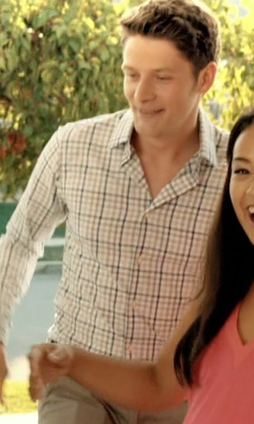 Brett Dier with Tom Ford  Tattersall Check Dress Shirt in Jane the Virgin