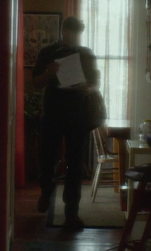 Joshua Leonard with Steve Madden P-Flint Leather Lace-Up Boots in If I Stay