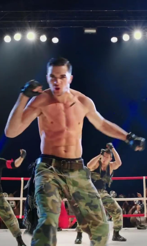 Stephen Stevo Jones with Rothco Camouflage Vintage Paratrooper Cargo Pants in Step Up: All In