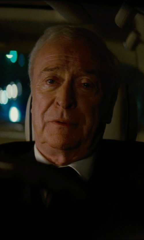 Michael Caine with Giorgio Armani Custom Made White Dress Shirt (Alfred) in The Dark Knight Rises