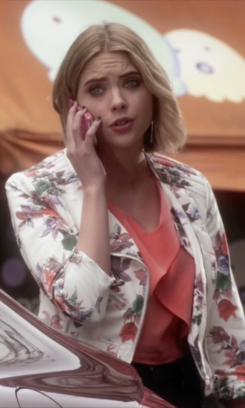 Ashley Benson with Guess Orsola Moto Jacket in Pretty Little Liars