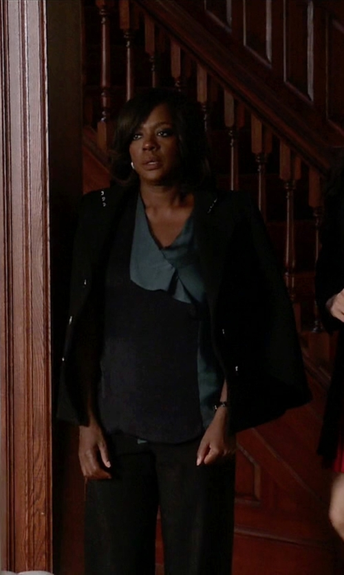 Viola Davis with Daniele Alessandrini Double Breasted Blazer in How To Get Away With Murder
