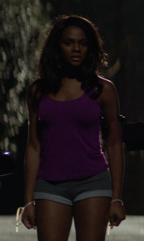 Tika Sumpter with Rag & Bone/JEAN Boyfriend Sweat Short in Ride Along