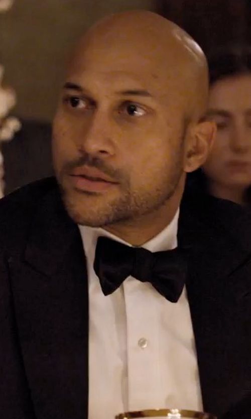Keegan-Michael Key with Neiman Marcus Satin Bow Tie in Friends From College