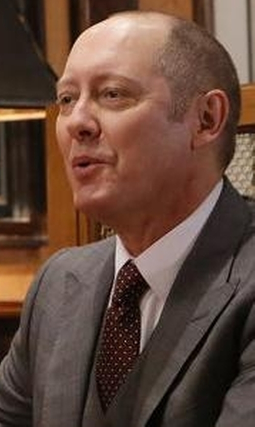 James Spader with Eton of Sweden Dotted Silk Tie in The Blacklist