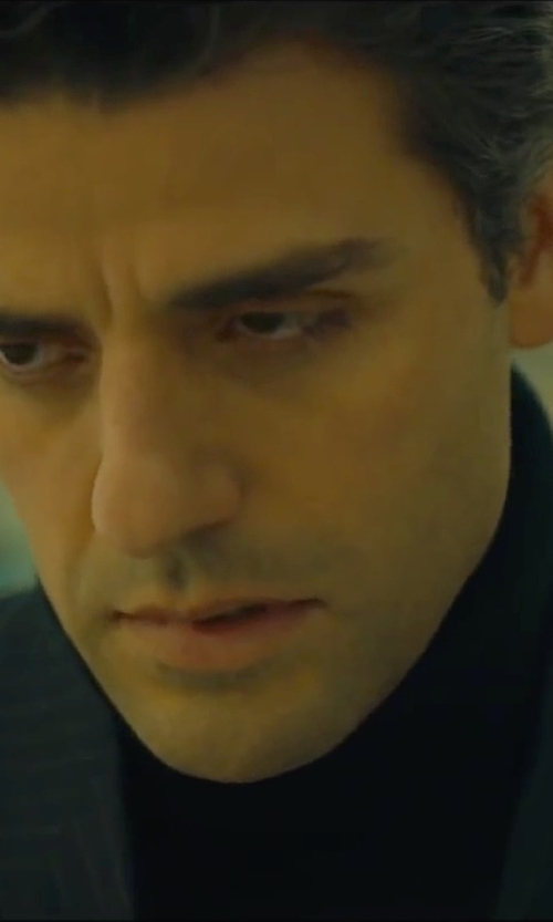 Oscar Isaac with Theory Nalles New Sovereign Turtleneck Sweater in A Most Violent Year