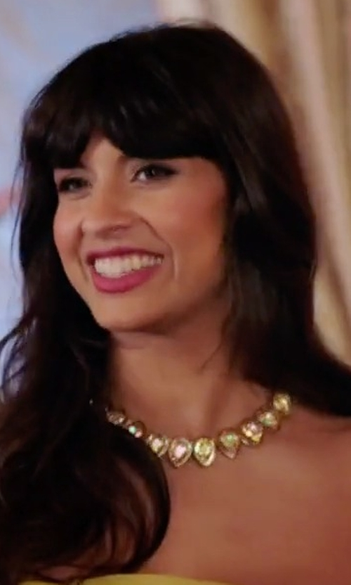 Jameela Jamil with Kate Spade New York 'Fancy That' Small Stone Necklace in The Good Place