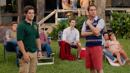 Adam DeVine with Levi's Harvest Gold Commuter Cargo Pants in Pitch Perfect 2