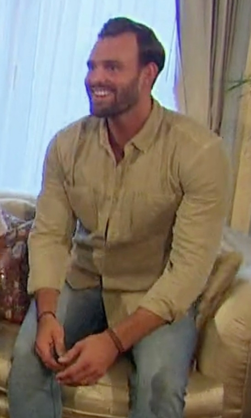 Robby with Belstaff Sinclair Taped-Trim Sport Shirt in The Bachelorette