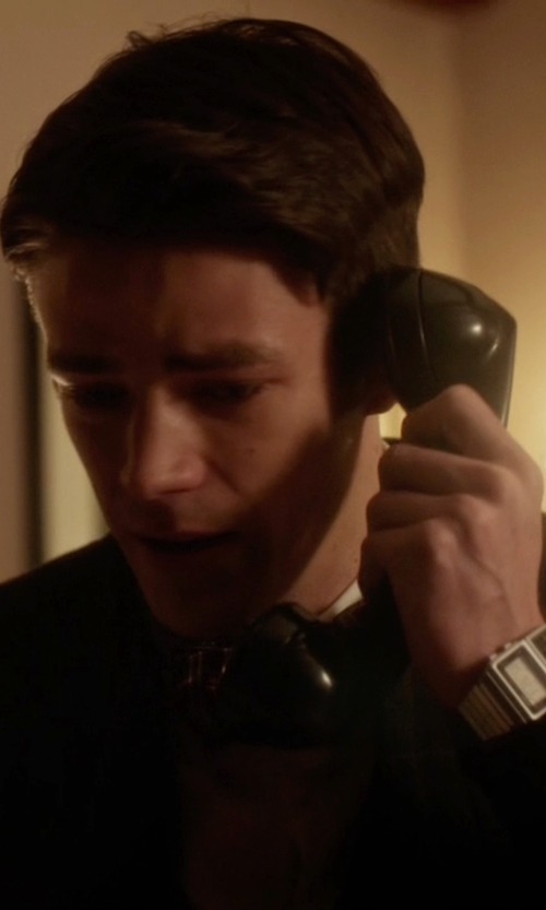 Grant Gustin with Casio Classic Silver Databank Watch in The Flash