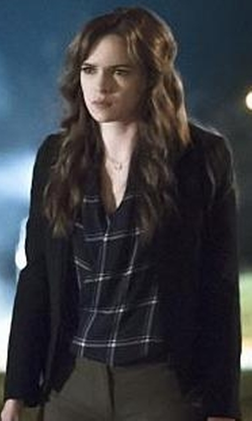 Danielle Panabaker with Babaton Jakob Blouse in The Flash