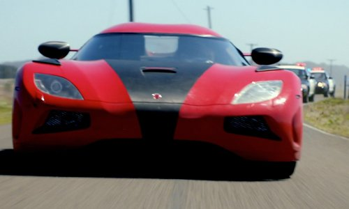 Dominic Cooper with Koenigsegg Agera R Car in Need for Speed