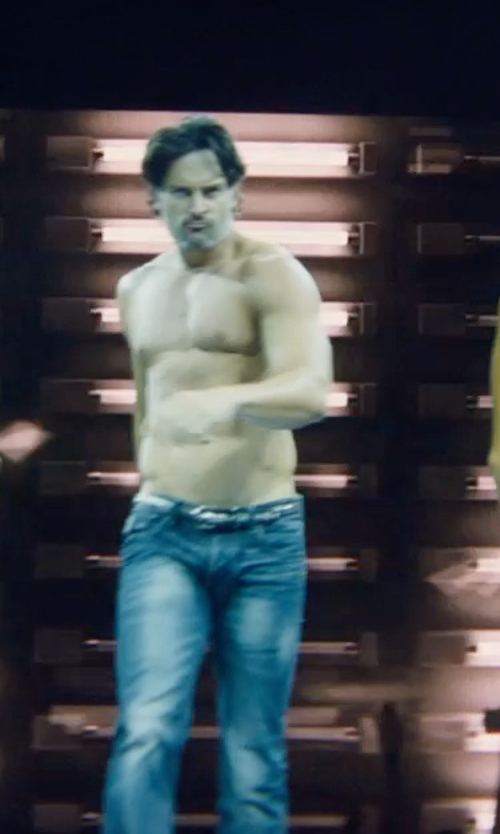 Joe Manganiello with Ali Express Genuine Leather Punk Metal Belt in Magic Mike XXL
