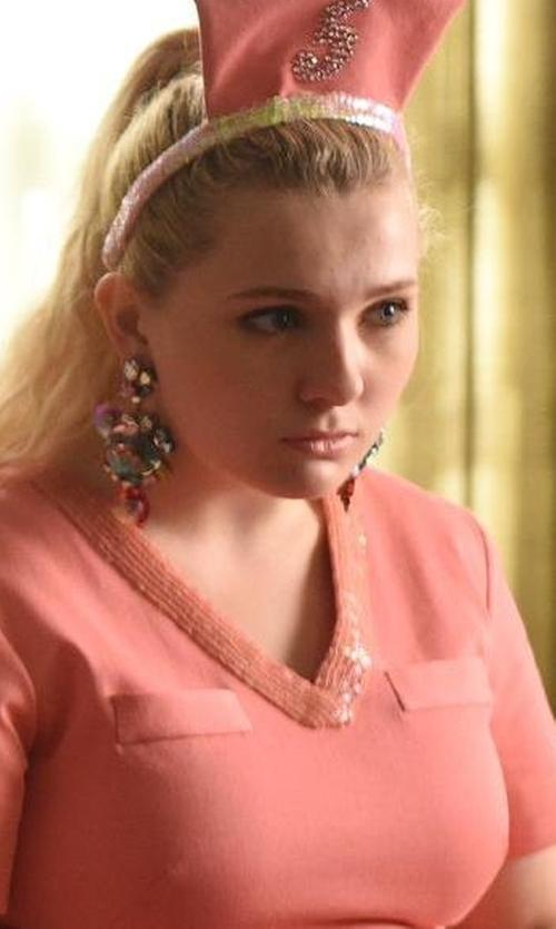 Abigail Breslin with Dannijo Bavaria Crystal Statement Earrings in Scream Queens