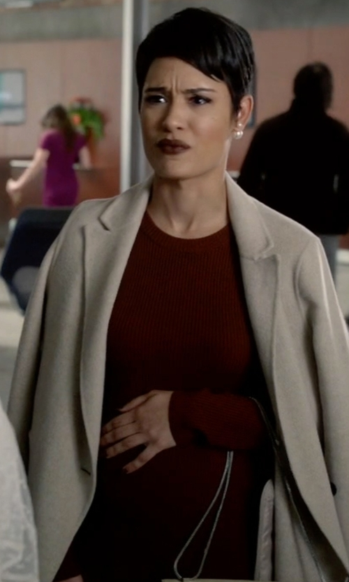 Grace Gealey with Maison Margiela Short Sweater Dress in Empire