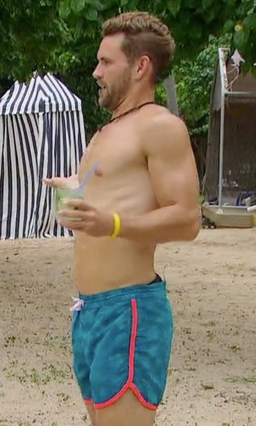Nick Viall with Chubbies The Agua Dulces Swim Trunks in The Bachelor