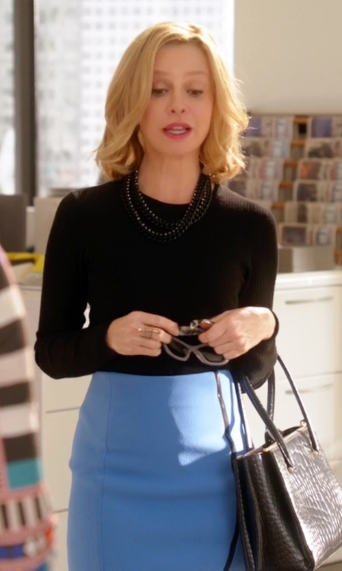Calista Flockhart with Dolce & Gabbana  Mirrored Square Acetate Sunglasses in Supergirl