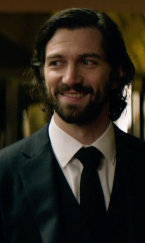 Michiel Huisman with Giorgio Armani	 Waffle-Knit Silk Tie in The Age of Adaline
