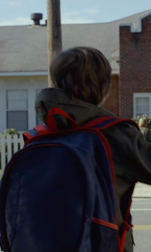 Jacob Tremblay with Little Marc Jacobs Two-Tone Pattern Backpack in Before I Wake